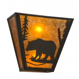169334 Bear Northwoods Wall Sconce Meyda Lighting