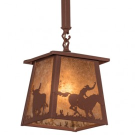 Cowboy & Steer Mini Pendant Meyda Lighting