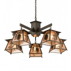 178527 Scotch Pine 5 LT Chandelier
