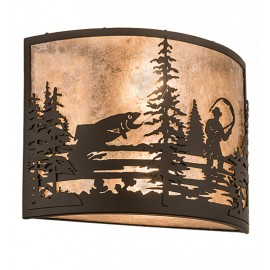 Fly Fishing Creek Wall Sconce Meyda Lighting
