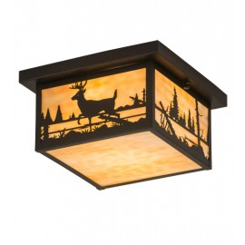 190005 Deer Flushmount Ceiling Light Meyda Lighting
