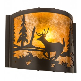 "Deer at Lake 12"" Wall Sconce Meyda Lighting"