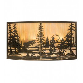 19924 Fly Fishing Creek Large Wall Sconce Meyda Lighting