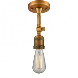 200F Bare Bulb Semi-Flush With Swivel