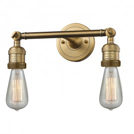 208 Bare Bulb 2 Light Adjustable Wall Sconce Innovations