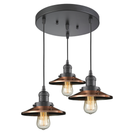 211/3 Railroad 3 Light Pendant Innovations