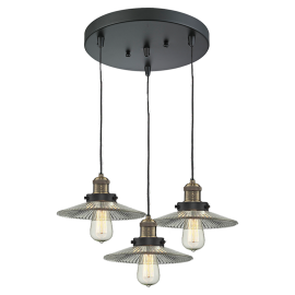 211/3 Halophane 3 Light Pendant Innovations