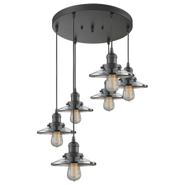 Railroad 6 Light Pendant Innovations Lighting