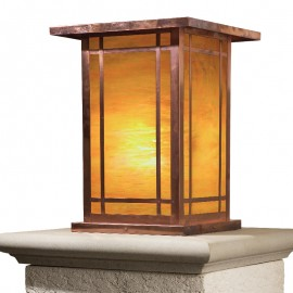 Wodfield Craftsman Column Mount Lighting