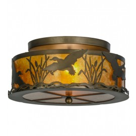 51239 Ducks in Flight Flushmount Drop Ceiling Light
