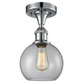 516-1C Glass Light Athens Flush Mount