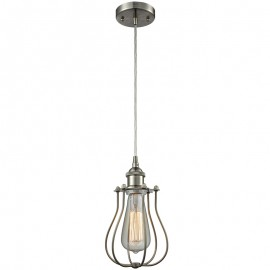 516-1P-513 Industrial Cage Light Barrington Pendant