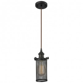 516-1P-220 Industrial Cage Light Bleecker Pendant