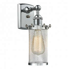 516-1W-220 Industrial Cage Light Bleecker Wall Sconce