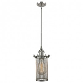 516-1S-220 Industrial Cage Light Bleecker Stem Pendant Innovations