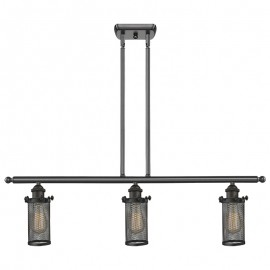516-31-220 Industrial Cage 3 Light Island Bleecker