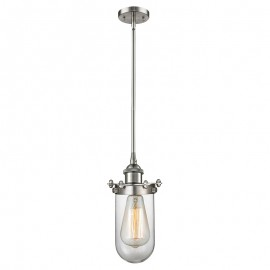 516-1S-232 Industrial Glass Light Kingsbury Stem Pendant