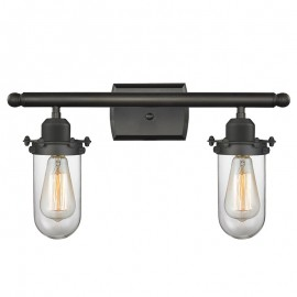 516-2W-232 Industrial Glass Kingsbury 2 Light Wall Sconce