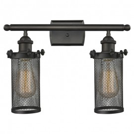 516-2W-220 Industrial Cage Bleecker 2 Light Wall Sconce