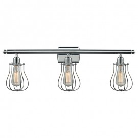 516-3W-513 Industrial Cage 3 Light Wall Sconce