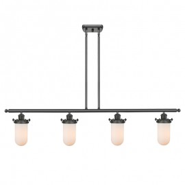Industrial Glass 4 Light Island Kingsbury Chandelier Innovations Lighting