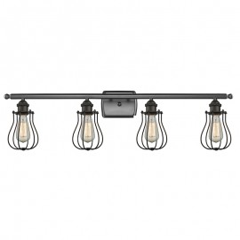 516-4W-513 Industrial Cage 4 Light Wall Sconce Innovations
