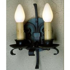 LF515 Rancho Sconce 2 Candle Mica Lamps