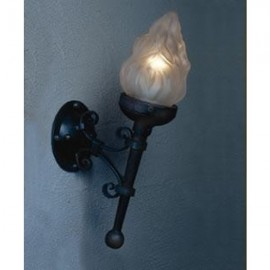 LF212 Glass Flame Torch Sconce