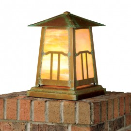 Poplar Glen Column Mount Lighting