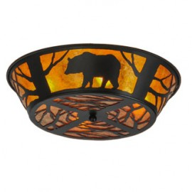 66209 Bear Northwoods Flushmount Drop Ceiling