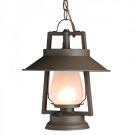 752-S-S-4 49er Chain Mount & Shade Rustic Lantern
