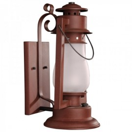 Pioneer Scroll Arm Mount Rustic Lantern
