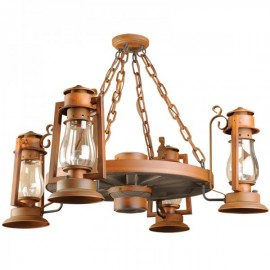 772S-54 Pioneer Wagon Wheel Chandelier