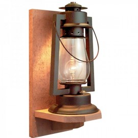 Pioneer Wood Wall Mount Rustic Lantern