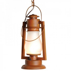 "Pioneer 25"" Large Chain Mount Rustic Lantern"