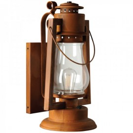 "Pioneer 25"" Extra Large Scroll Arm Mount Rustic Lantern"