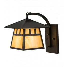 """Stillwater 12""""SQ Curved Arm Wall Sconce"""