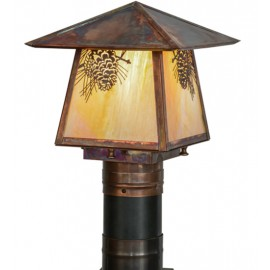 "Stillwater 16""SQ Post Mount Meyda Lighting"