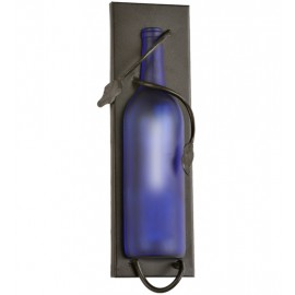 99372 Wine Bottle Frosted Blue Wall Sconce