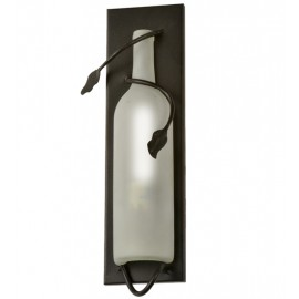 99374 Wine Bottle White Frosted Wall Sconce
