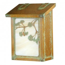 Ginkgo Tree Vertical Wall Mount Mailbox