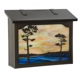 Monterey Pine Large Vertical Mailbox