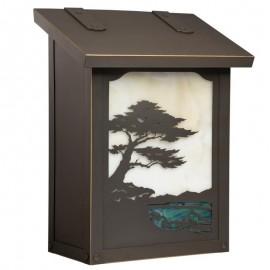 Monterey Cypress Vertical Wall Mount Mailbox