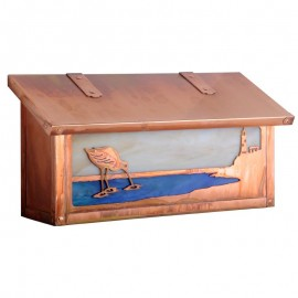 Shorebird Horizontal Wall Mount Mailbox