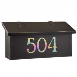 Classic Horizontal House Number Mailbox