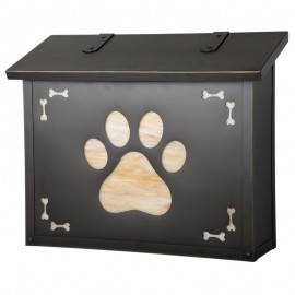 Dog Paw Large Vertical Mailbox