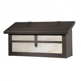 Arrow Horizontal Wall Mount Mailbox