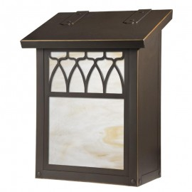 Window 13 Overlay Vertical Wall Mount Mailbox