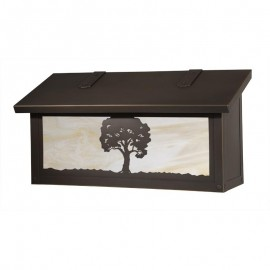 Oak Tree Horizontal Wall Mount Mailbox