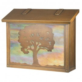 Oak Tree Large Vertical Mailbox